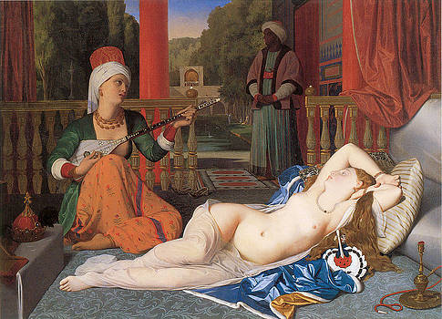 Jean-August-Dominique Ingres - Odalisque with Slave