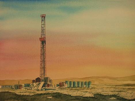 Oil Derrick Montana by Kevin Heaney