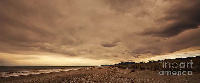 Okuru Beach Clouds by Odille Esmonde-Morgan