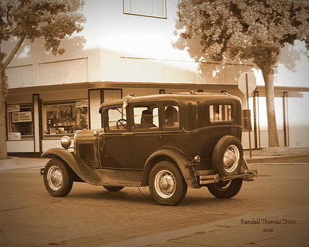 Randall Thomas Stone - Old 30s Sedan - Sepia Tone