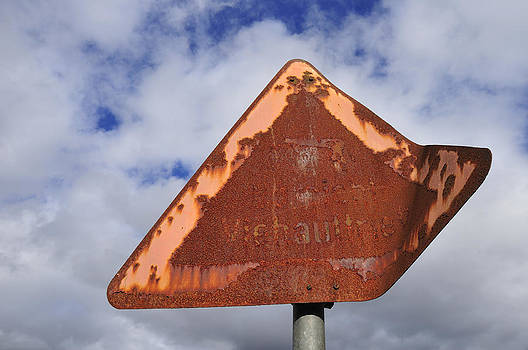 Old and rusty traffic sign by Matthias Hauser