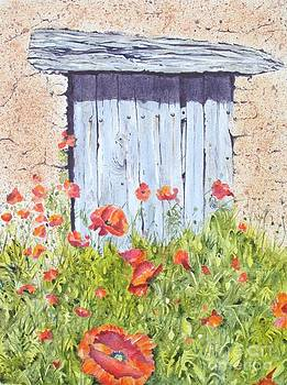 Old Barn Door by Frances Evans