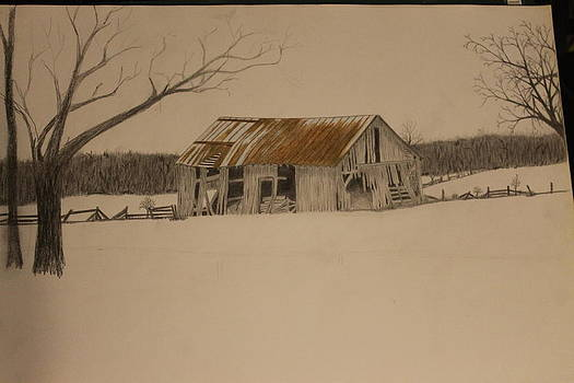 Old Barn Drawing by Ralph Hecht