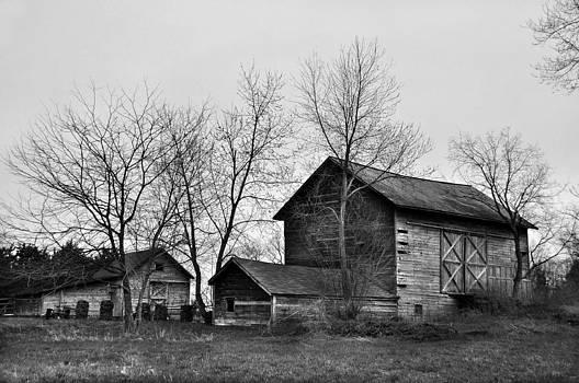 Old Barn In Monochrome by JD  Fielding
