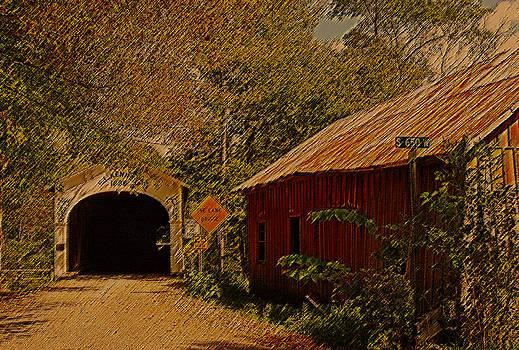 Randall Branham - OLD BARN N COVERED BRIDGE