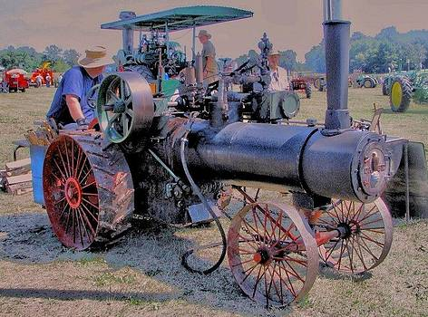 Old Case Steam Tractor by Victoria Sheldon