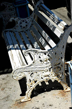 LeeAnn McLaneGoetz McLaneGoetzStudioLLCcom - Old Cast Iron Bench Virginia City Nevada