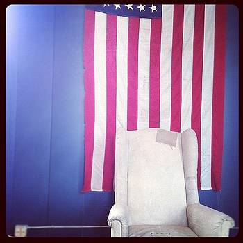 Old Chair And Old Glory by Trey Jackson