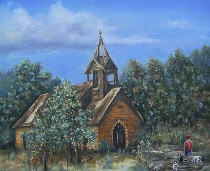 Old Country Church by Pamela Humbargar
