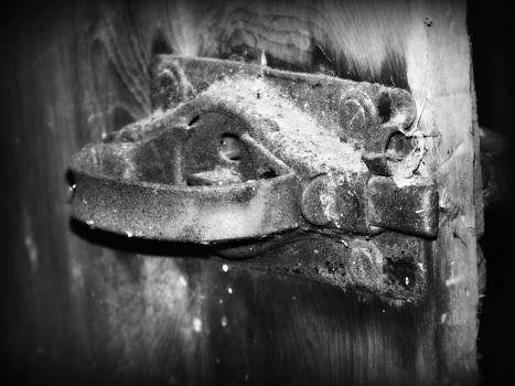 Old Door Latch BW by Jennifer  King