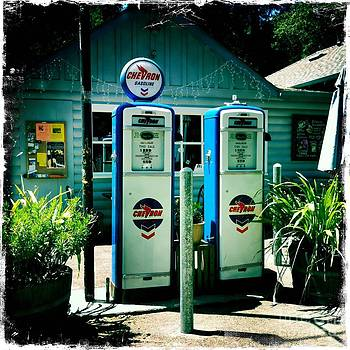Old Fashioned Gas Station by Nina Prommer