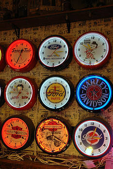 LeeAnn McLaneGoetz McLaneGoetzStudioLLCcom - Old Fashioned Neon Time Clocks
