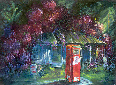 Old Hawaiian Gas Station by Peggy Mars