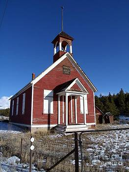 Old Historic One Room School House by Donna Parlow