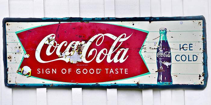 Old Metal Coke Sign by Susan Leggett