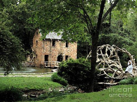 Old Mill in Watercolor by NaDean Ribitzki