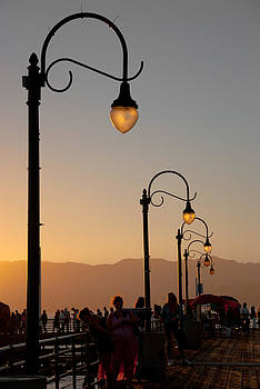 Old Pier Lamp Posts II by Heidi Reyher
