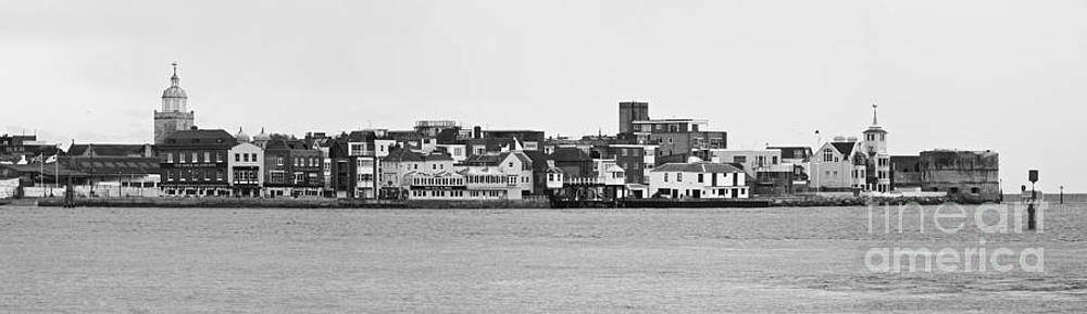 Old Portsmouth Black and White by John Basford