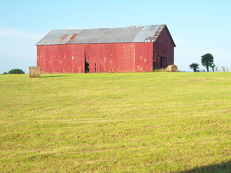 Old Red Barn by Judy Groves