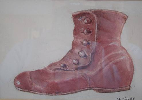 Old red shoe by Mark Haley