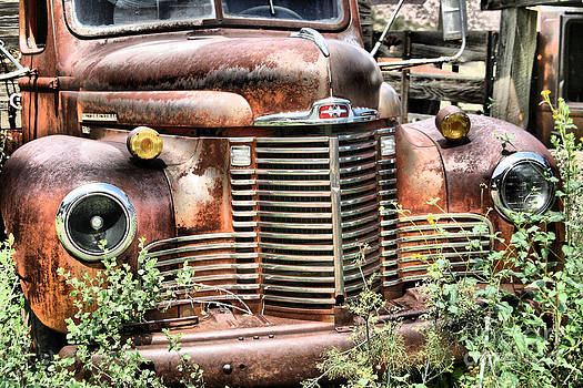 Old Rusted Truck by Donald Tusa