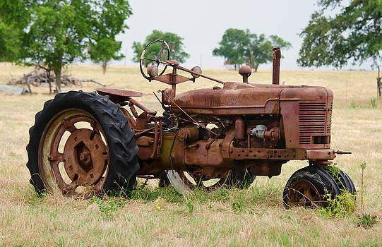 Old Rusty Tractor by Lisa Moore