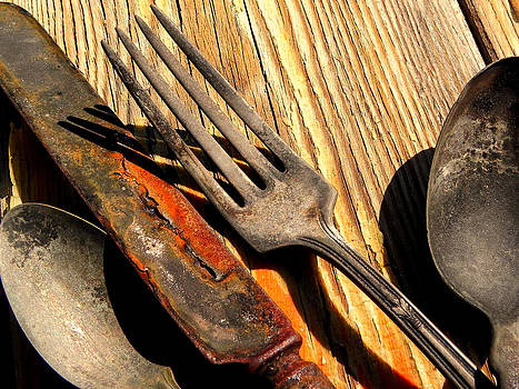 Old Silver and Wood by Susan Bergstrom