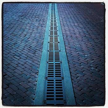 Old Town Cobblestone Grate, Wichita by Michael Witzel