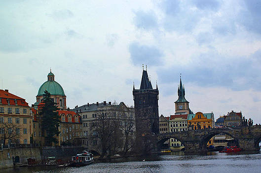 Old town Prague from river by Paul Pobiak
