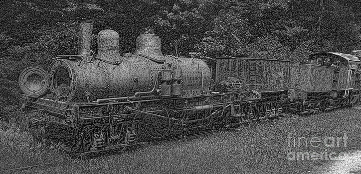 Old Train Charcoal by Denise Jenks