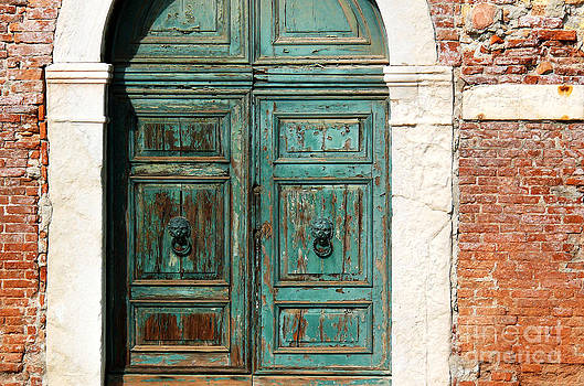 Old Venice Door by Jeanne  Woods