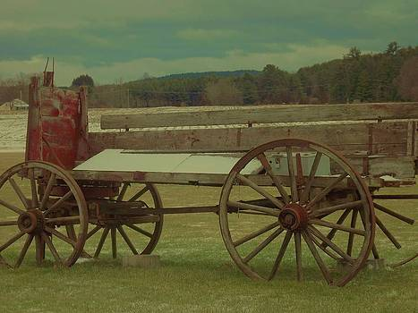 Old Wagon Fruit Stand by Becca J