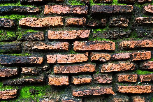 Old Wall At Thailand by Wasan Gredpree