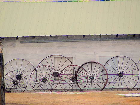 Old West Wagon Wheels by Amy Bradley