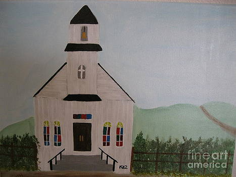 Old White Country Church by Dawn Harrold
