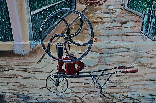 Old wine pump by Dany Lison