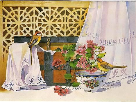 Old Wooden Box by Mahshid Zali