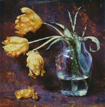 Old Yellow Tulips by Rod Huling