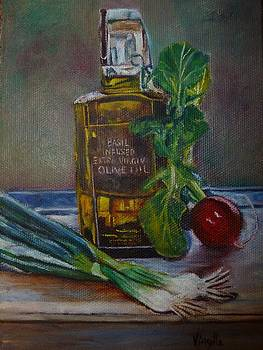Olive Oil with onions and radish by Virgilla Lammons
