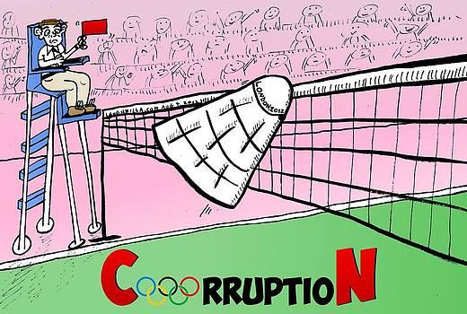 Olympic CorruptioN cartoon by Yasha Harari