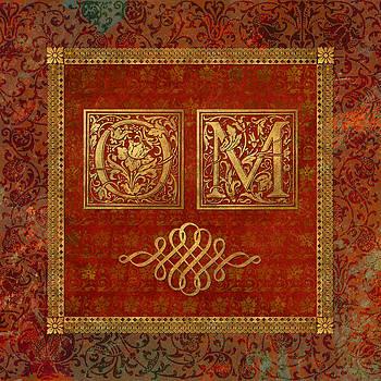 OM on Red Velvet by Susan Ragsdale