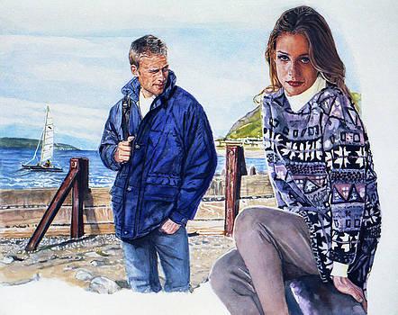 On the beach by Michael Haslam
