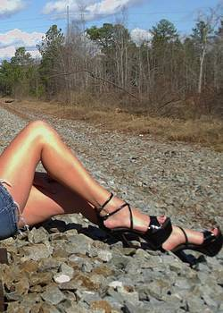 On the tracks.. by Melody McCoy