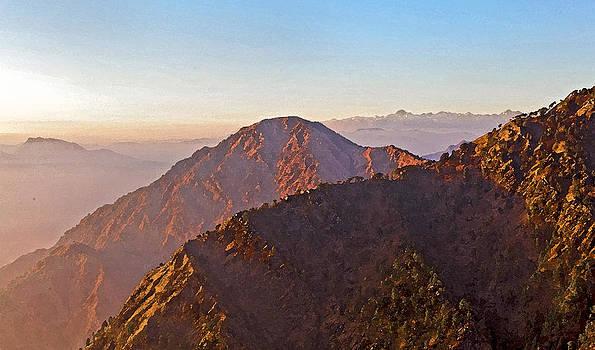 Kantilal Patel - On top of Trikuta Kashmir