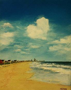 One Heart Over The Beach by Heather  Gillmer
