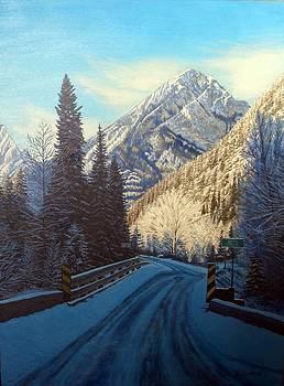 One-lane Bridge between Jasper and Kamloops by Rick Gallant