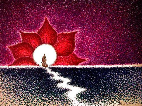 Open Lotus Lovers Moon by Andrew Zeutzius