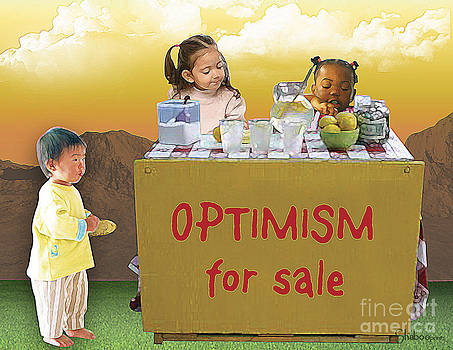 Optimism For Sale by Shaboo Prints