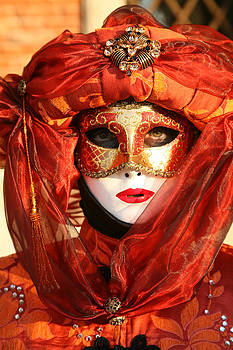 Orange Arab Portrait by Donna Corless