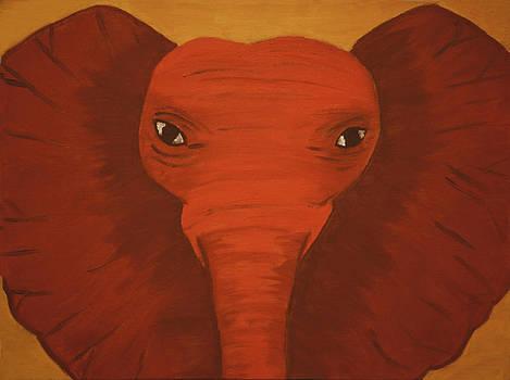 Orange Elephant by Victoria Golden